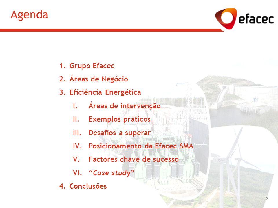 Agenda Grupo Efacec Áreas de Negócio Eficiência Energética