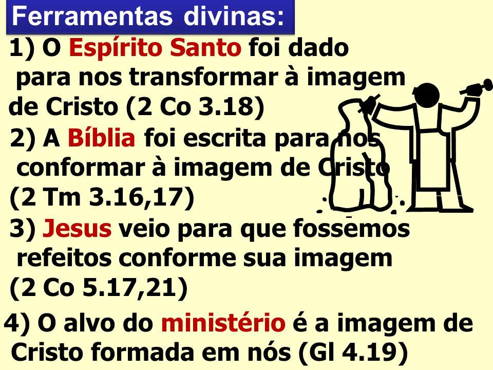 Ferramentas divinas: 1) O Espírito Santo foi dado