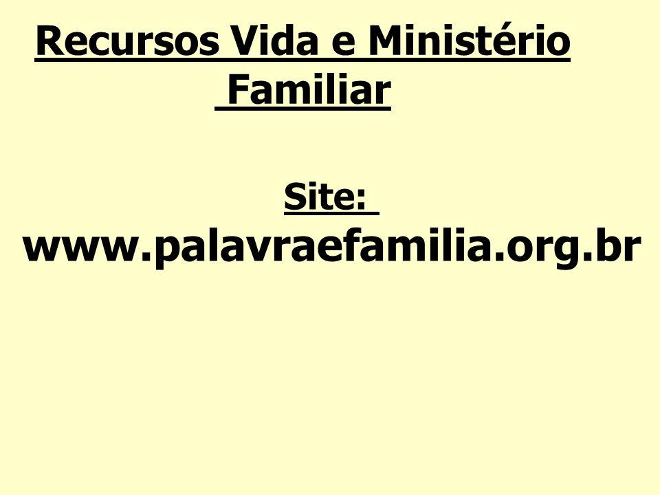 Recursos Vida e Ministério