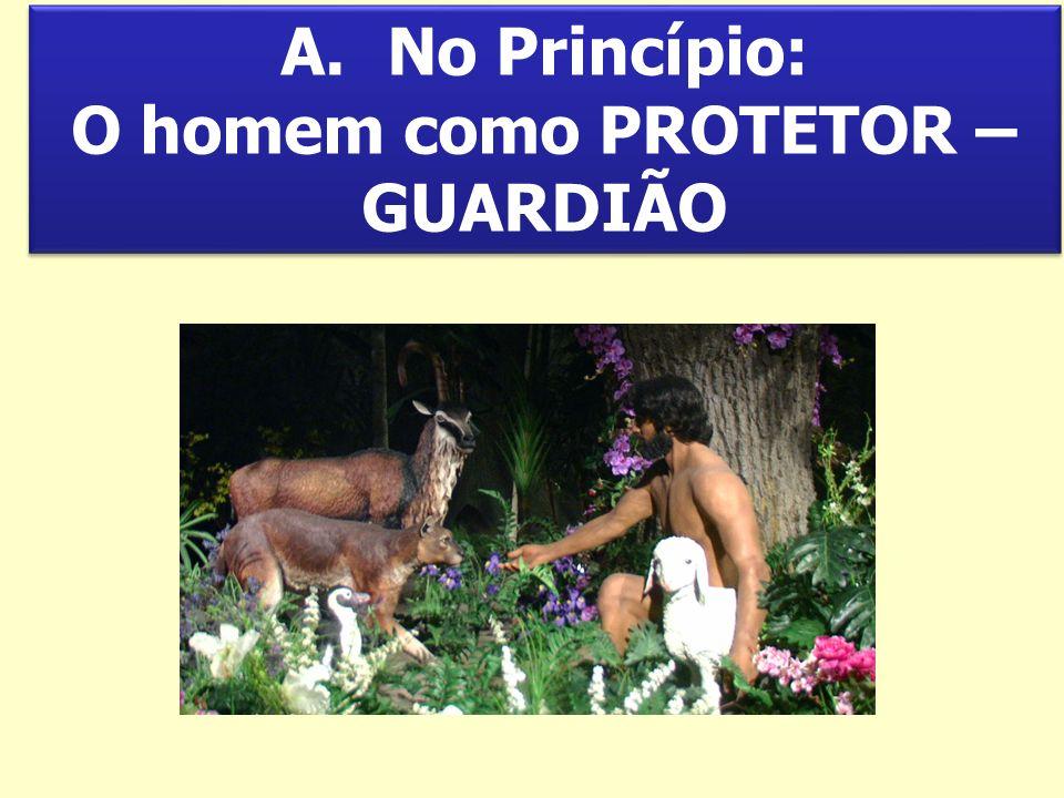 No Princípio: O homem como PROTETOR – GUARDIÃO