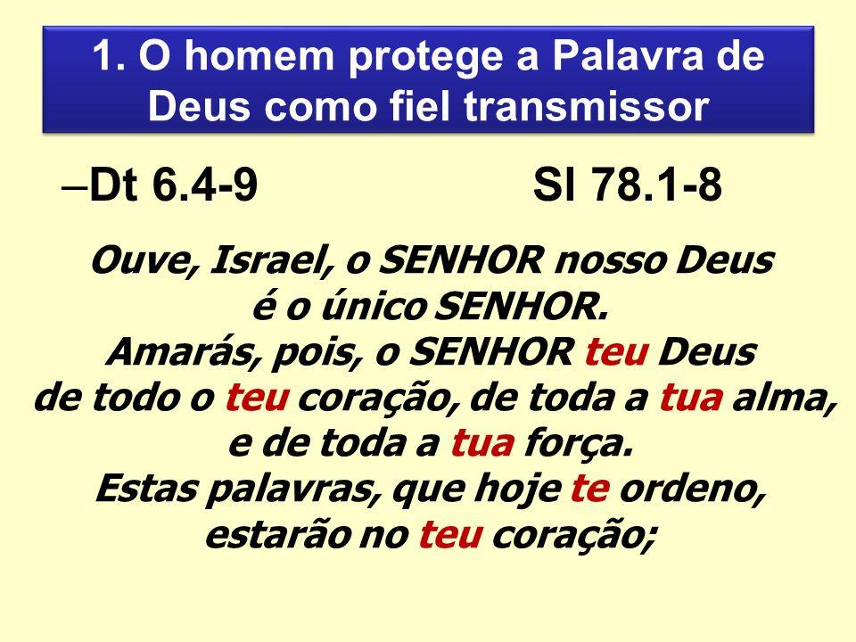 1. O homem protege a Palavra de Deus como fiel transmissor