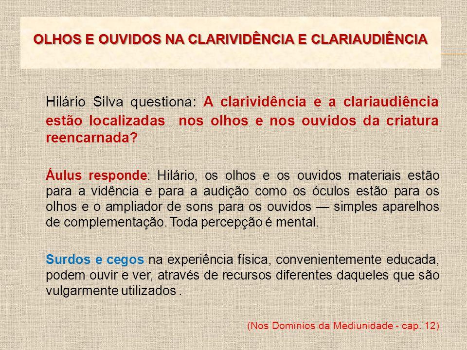 OLHOS E OUVIDOS NA CLARIVIDÊNCIA E CLARIAUDIÊNCIA
