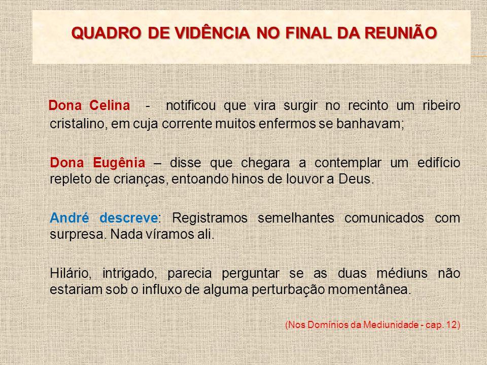 QUADRO DE VIDÊNCIA NO FINAL DA REUNIÃO