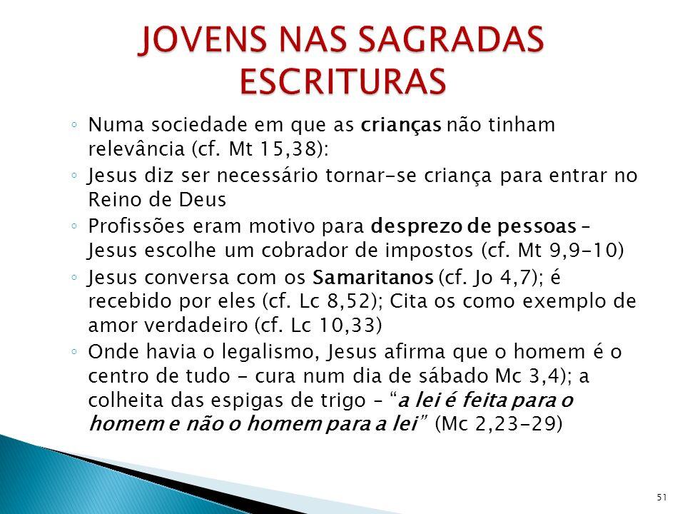 JOVENS NAS SAGRADAS ESCRITURAS