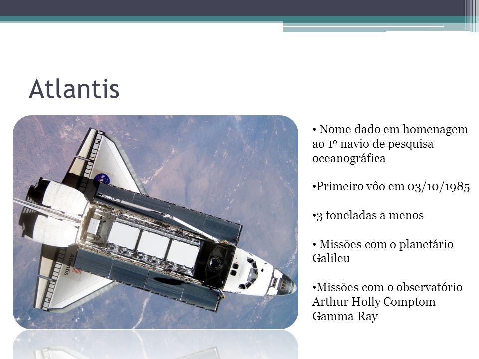 Atlantis Nome dado em homenagem ao 1o navio de pesquisa oceanográfica