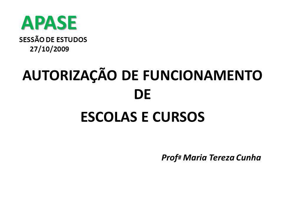 APASE SESSÃO DE ESTUDOS 27/10/2009
