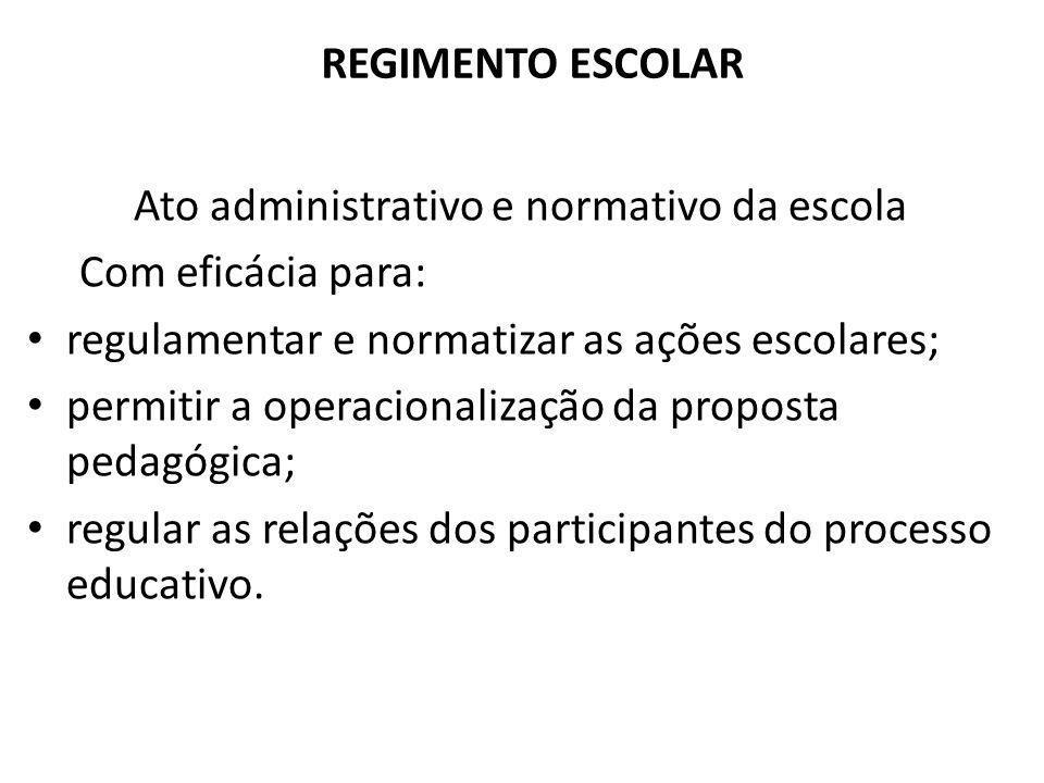 Ato administrativo e normativo da escola