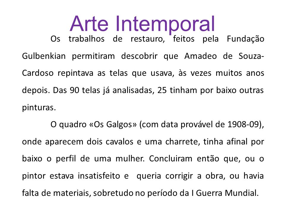 Arte Intemporal