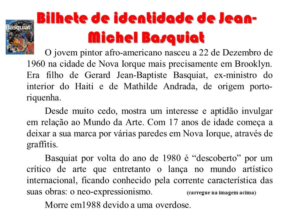 Bilhete de identidade de Jean-Michel Basquiat