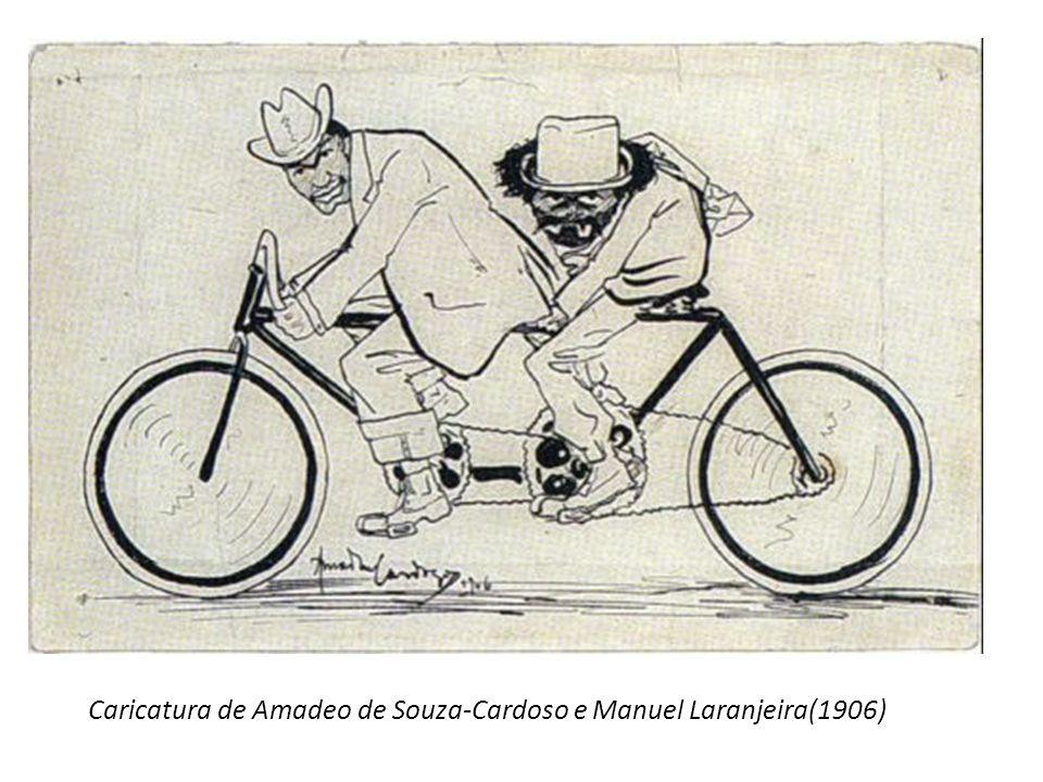 Caricatura de Amadeo de Souza-Cardoso e Manuel Laranjeira(1906)
