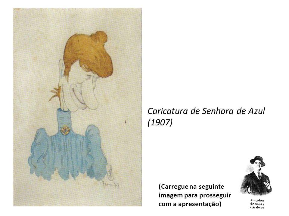 Caricatura de Senhora de Azul (1907)