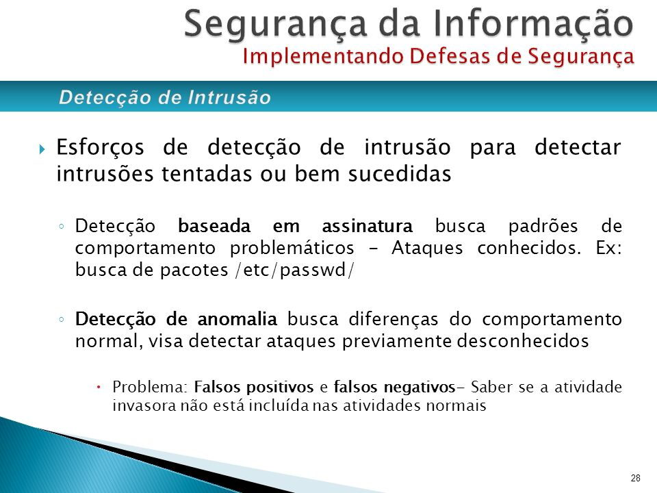 Segurança da Informação Implementando Defesas de Segurança