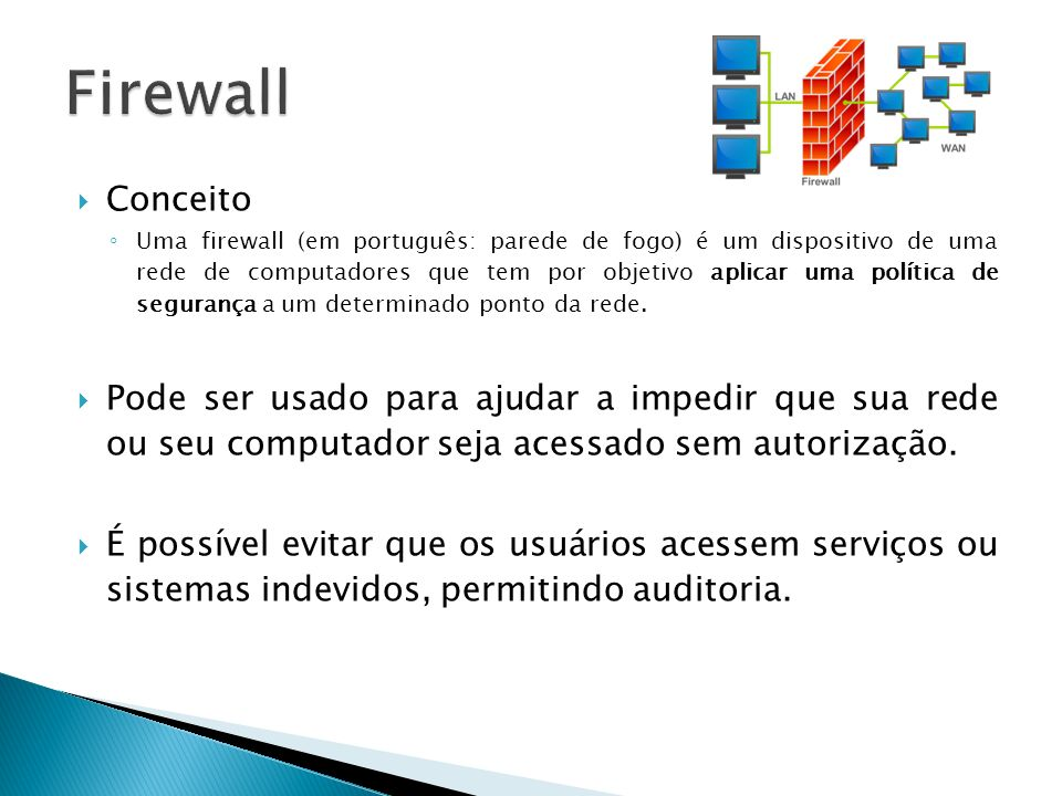 Firewall Conceito.