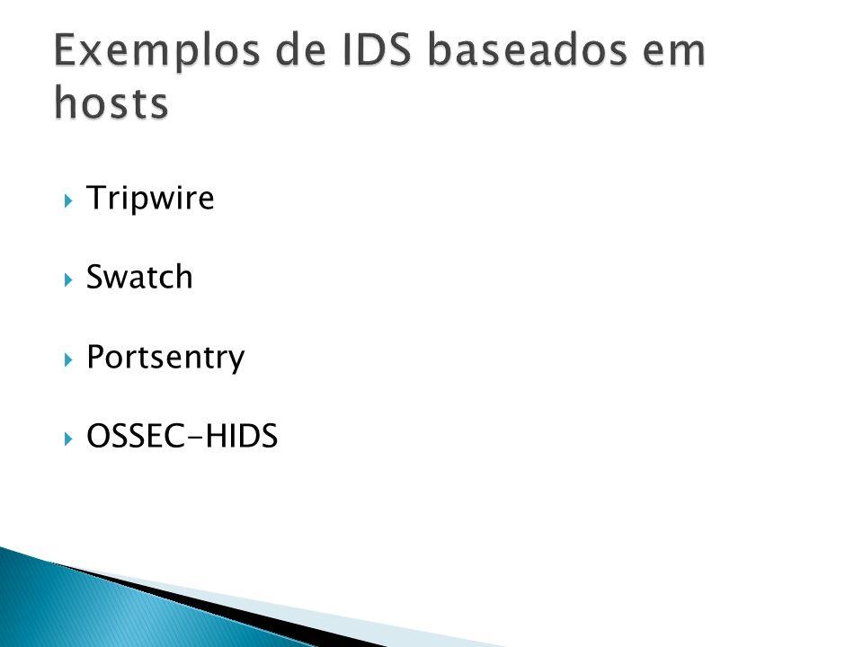 Exemplos de IDS baseados em hosts
