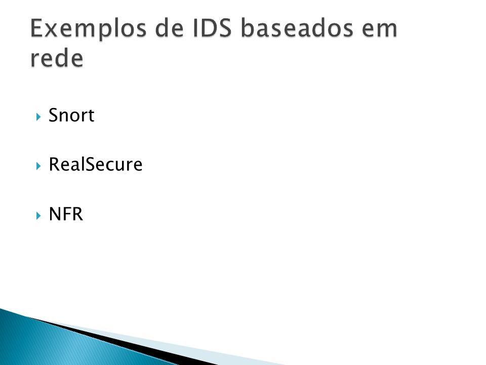 Exemplos de IDS baseados em rede