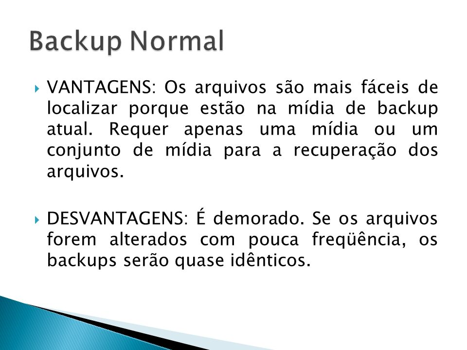 Backup Normal