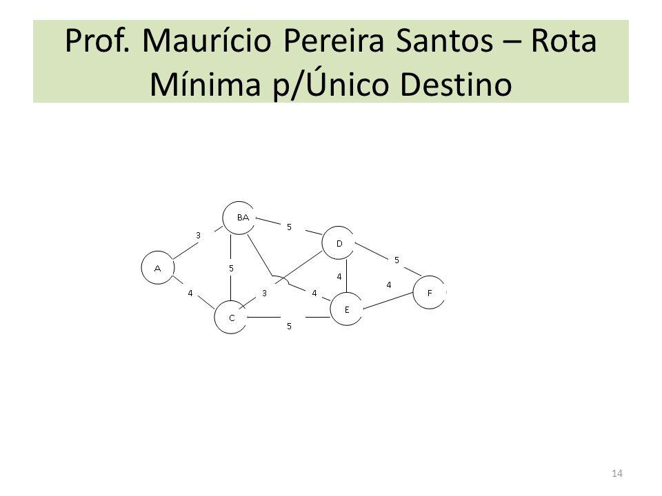 Prof. Maurício Pereira Santos – Rota Mínima p/Único Destino