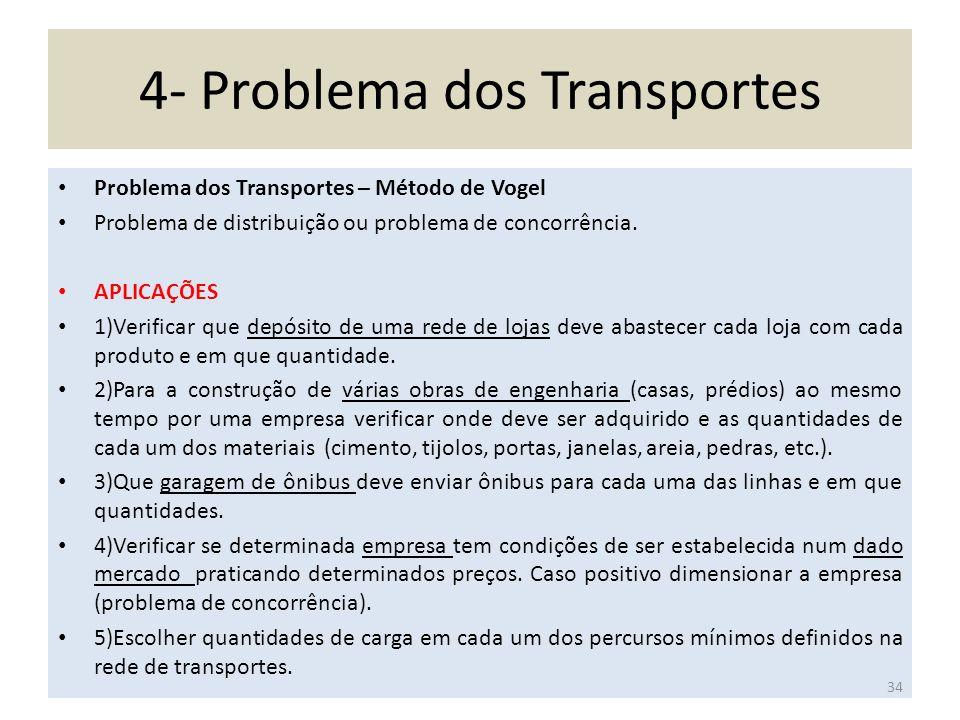 4- Problema dos Transportes
