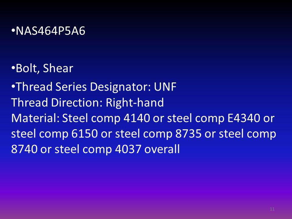 NAS464P5A6 Bolt, Shear.