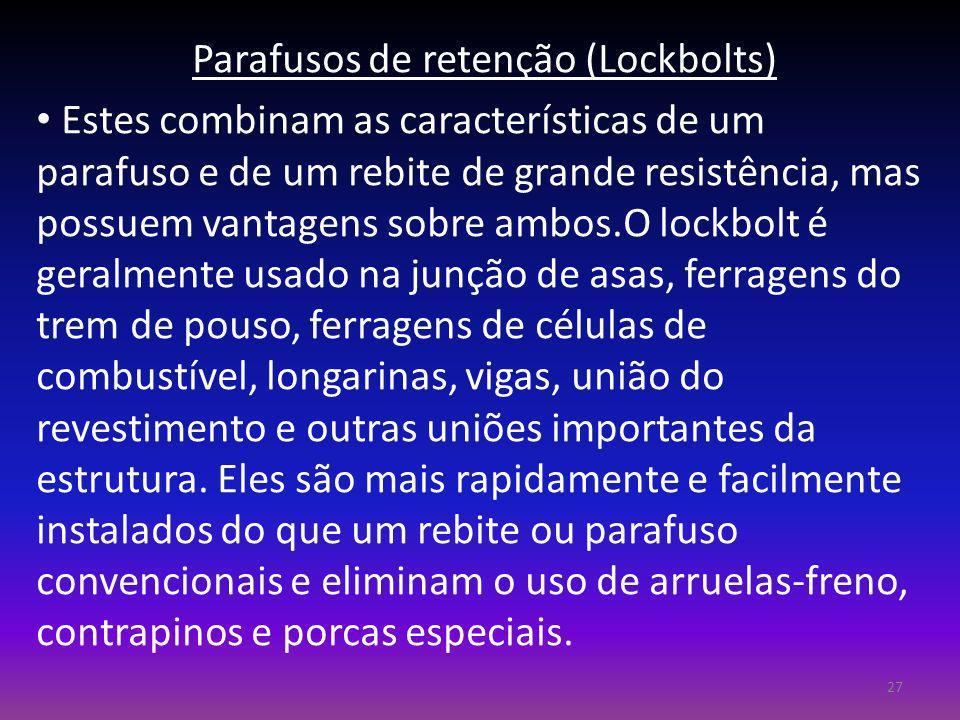 Parafusos de retenção (Lockbolts)