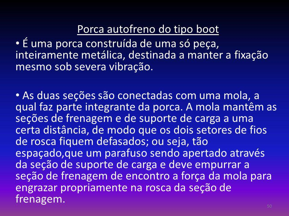 Porca autofreno do tipo boot