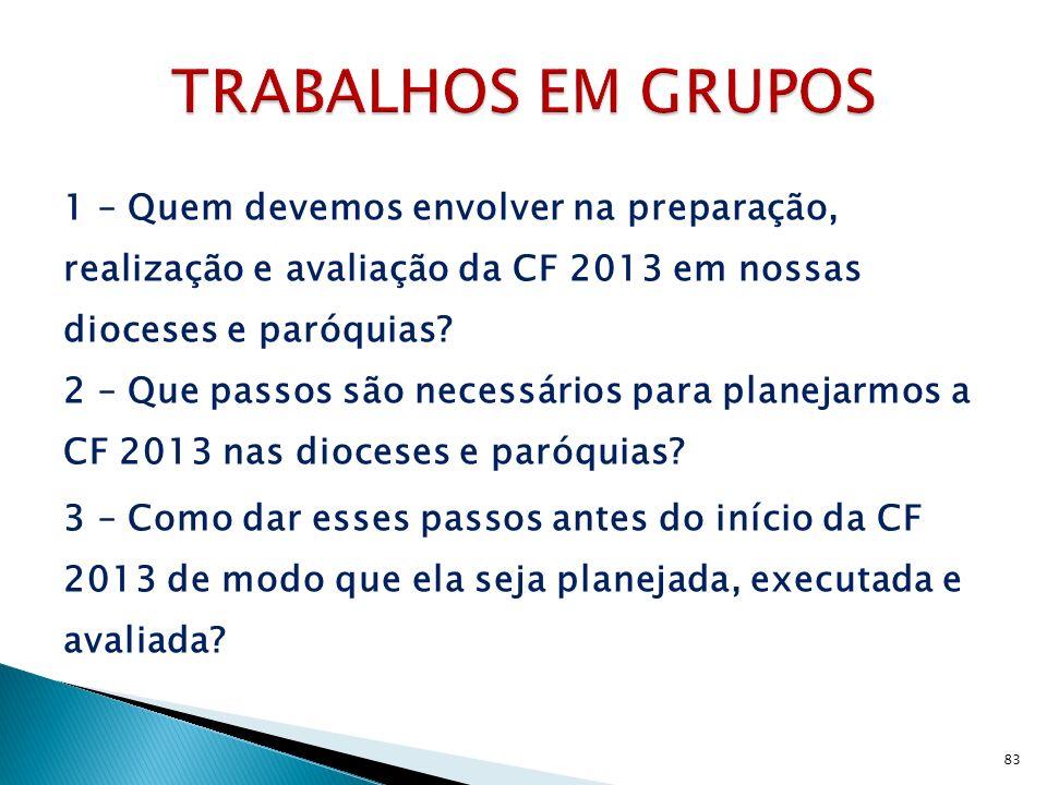 TRABALHOS EM GRUPOS