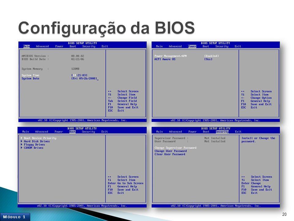 Configuração da BIOS Módulo 1