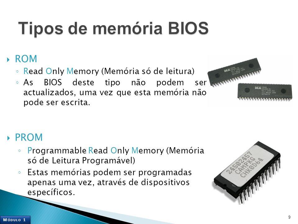 Tipos de memória BIOS ROM PROM