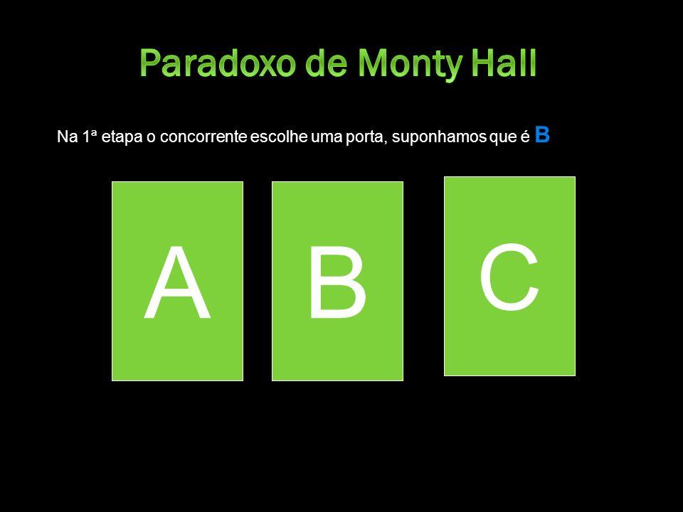 A B B C Paradoxo de Monty Hall