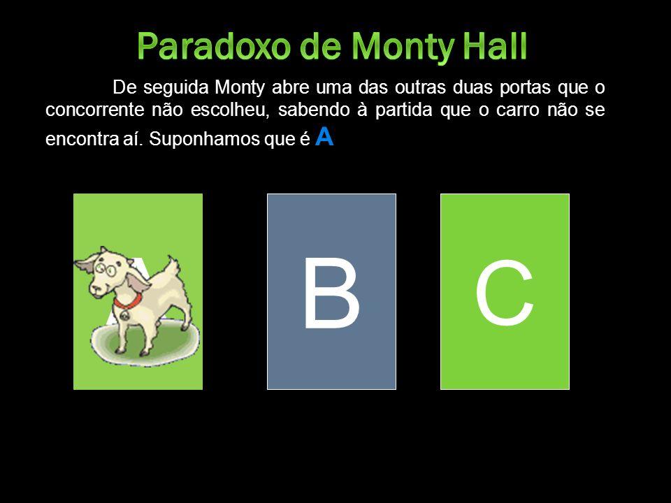 A B C Paradoxo de Monty Hall