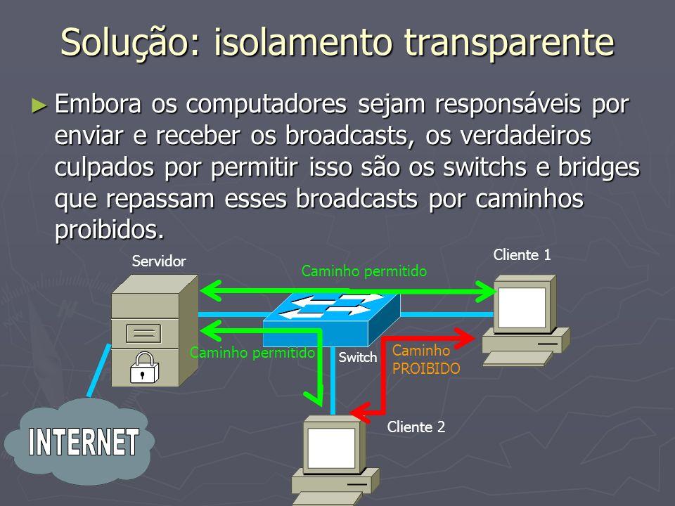 Solução: isolamento transparente