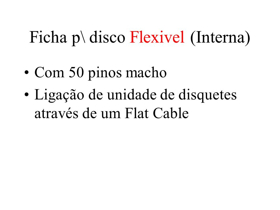 Ficha p\ disco Flexivel (Interna)