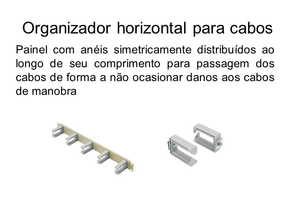 Organizador horizontal para cabos
