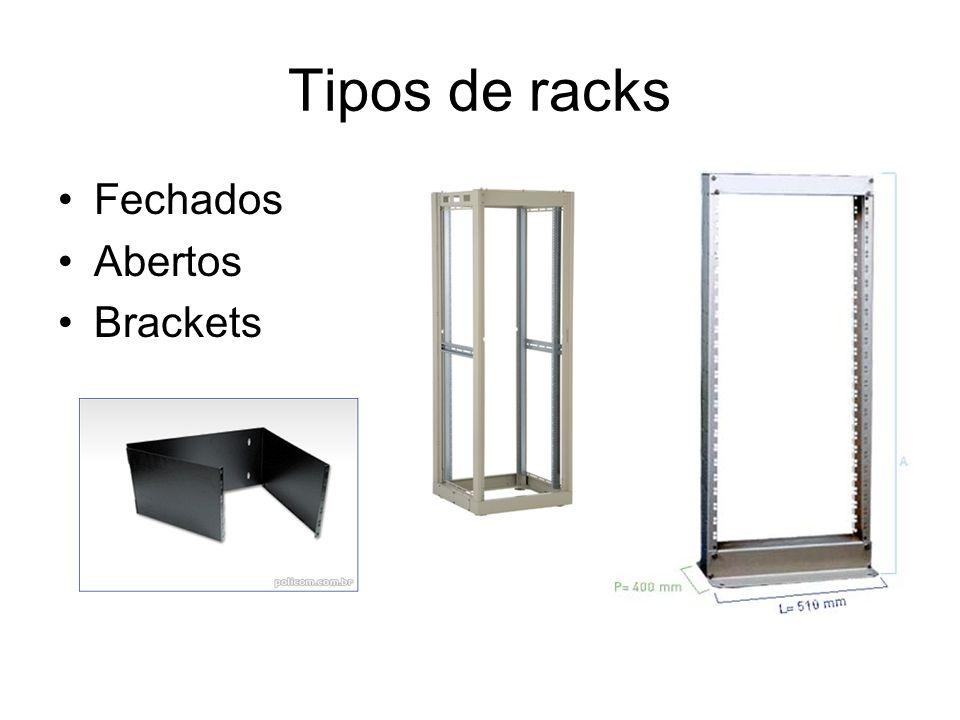 Tipos de racks Fechados Abertos Brackets