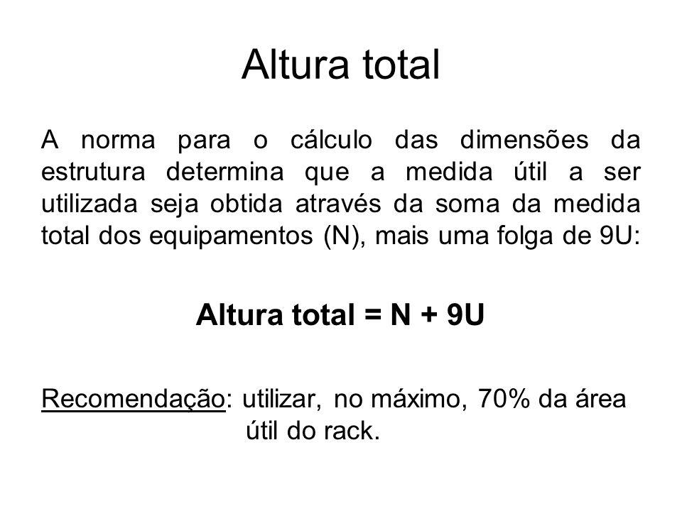 Altura total Altura total = N + 9U