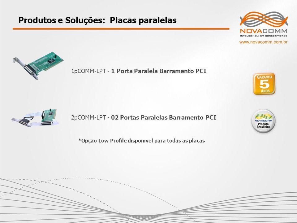 Produtos e Soluções: Placas paralelas