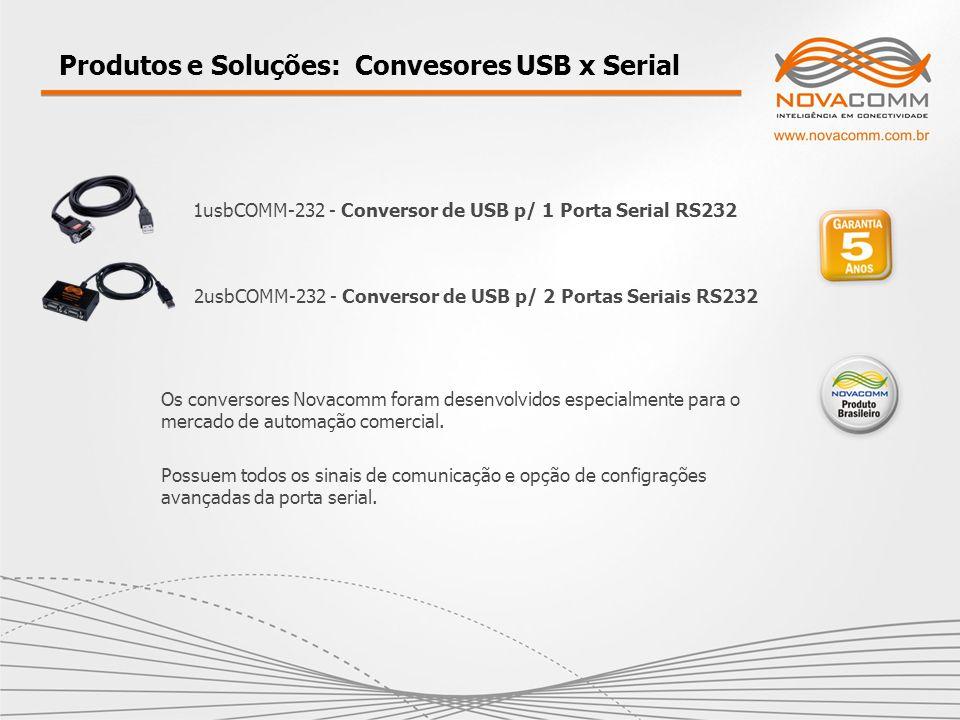 Produtos e Soluções: Convesores USB x Serial
