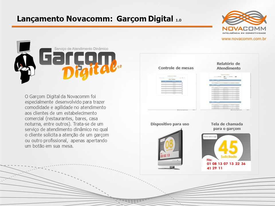 Lançamento Novacomm: Garçom Digital 1.0