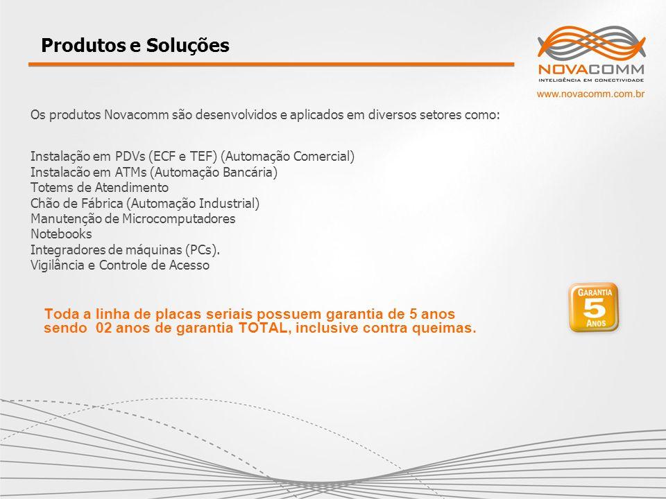 Produtos e Soluções Os produtos Novacomm são desenvolvidos e aplicados em diversos setores como:
