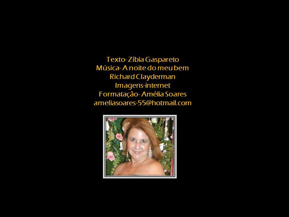 Texto- Zíbia Gaspareto Música- A noite do meu bem Richard Clayderman Imagens-internet Formatação- Amélia Soares ameliasoares-55@hotmail.com