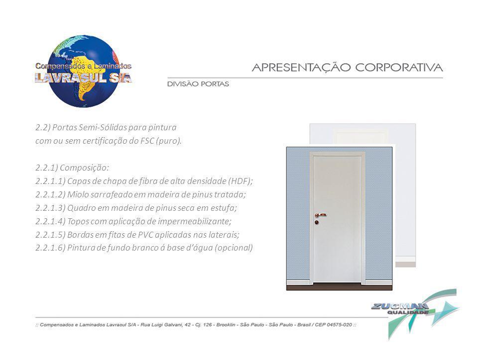 2.2) Portas Semi-Sólidas para pintura