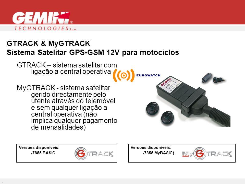 GTRACK & MyGTRACK Sistema Satelitar GPS-GSM 12V para motociclos