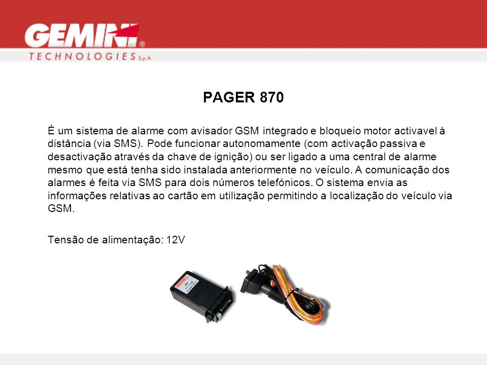 PAGER 870