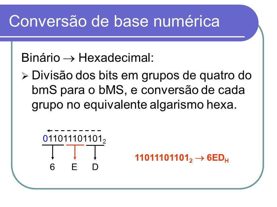 Conversão de base numérica