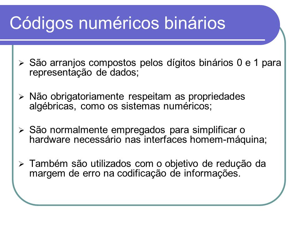 Códigos numéricos binários