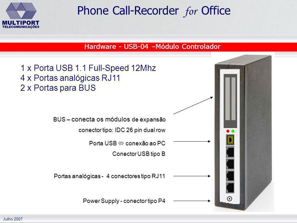 Hardware - USB-04 –Módulo Controlador