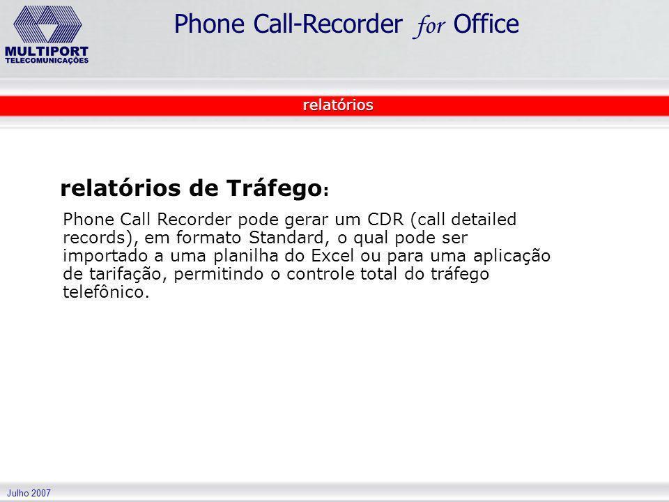 relatórios de Tráfego: