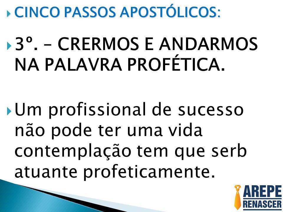 3º. – CRERMOS E ANDARMOS NA PALAVRA PROFÉTICA.