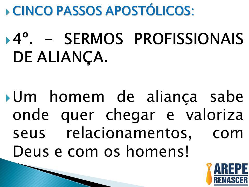 4º. - SERMOS PROFISSIONAIS DE ALIANÇA.