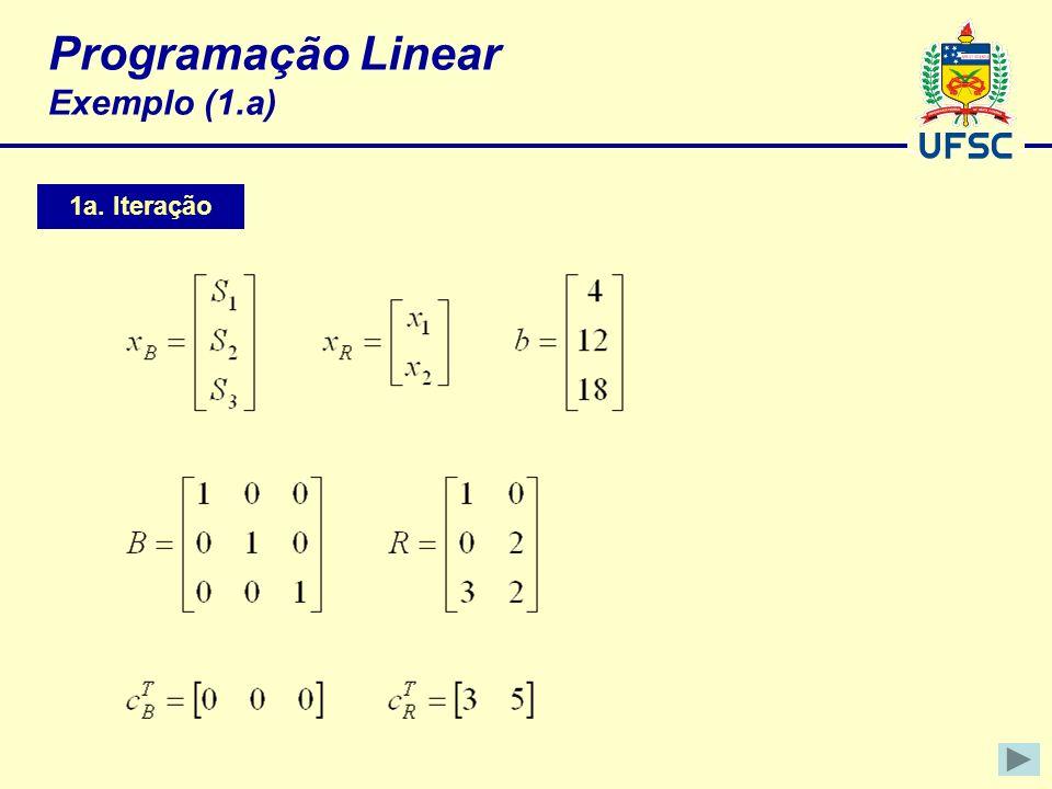 Programação Linear Exemplo (1.a)